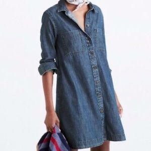 NWOT Madewell Denim Chambray Shirt Dress XXS